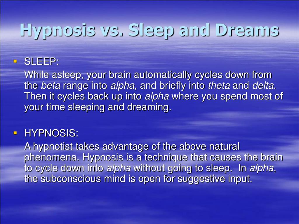 PPT - Hypnosis PowerPoint Presentation - ID:766881