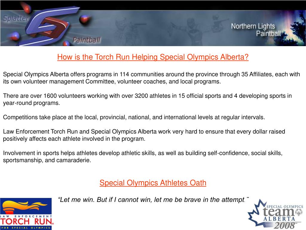 How is the Torch Run Helping Special Olympics Alberta?