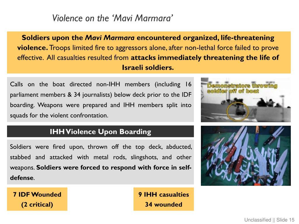 Violence on the 'Mavi Marmara'