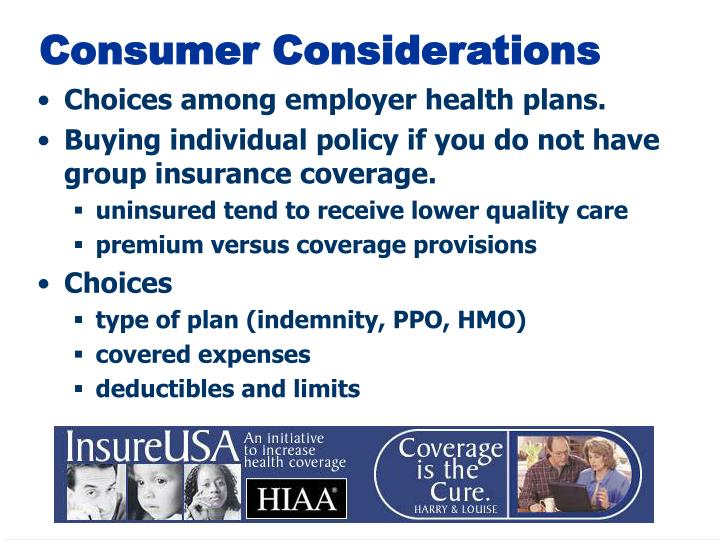 Consumer Considerations