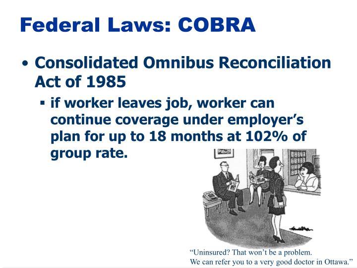 Federal Laws: COBRA