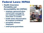 federal laws hipaa