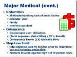 major medical cont