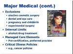 major medical cont1