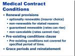 medical contract conditions