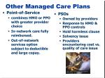 other managed care plans