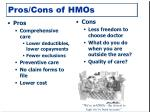 pros cons of hmos