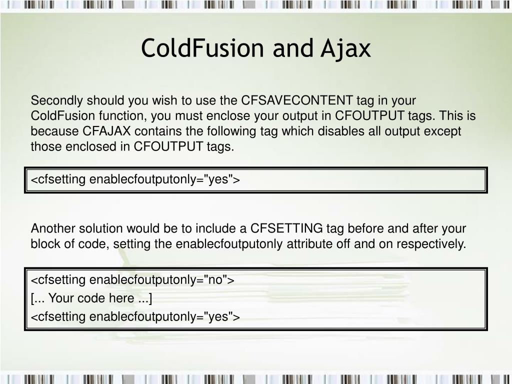 ColdFusion and Ajax