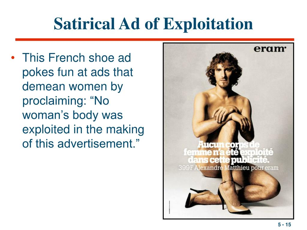 Satirical Ad of Exploitation