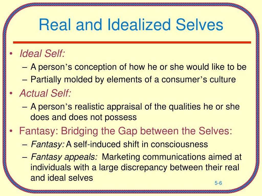 Real and Idealized Selves