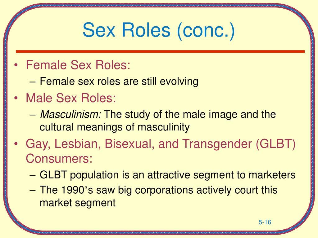 Sex Roles (conc.)