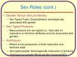 sex roles cont
