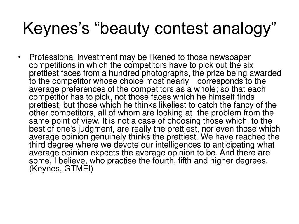 "Keynes's ""beauty contest analogy"""