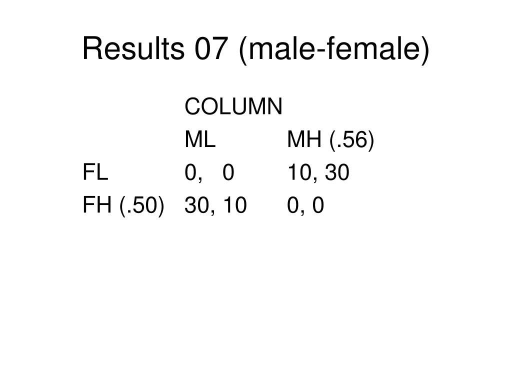 Results 07 (male-female)