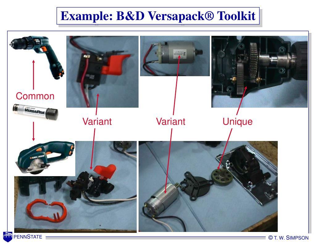 Example: B&D Versapack® Toolkit