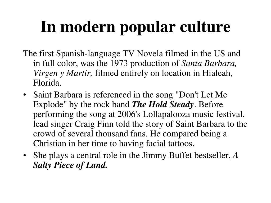 In modern popular culture