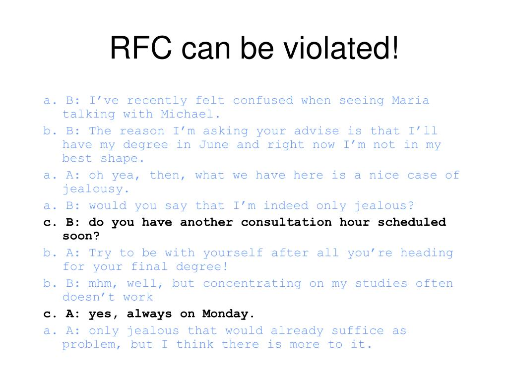 RFC can be violated!