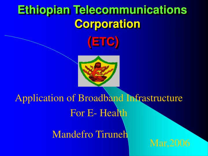ethiopian telecommunications n.