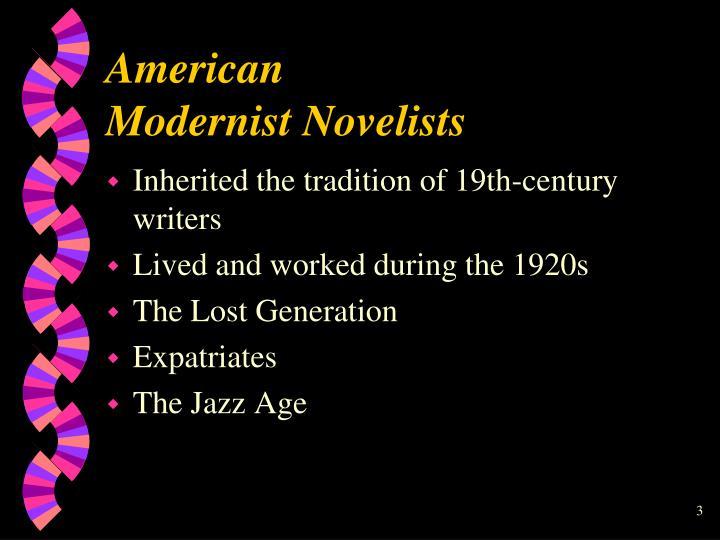 American modernist novelists