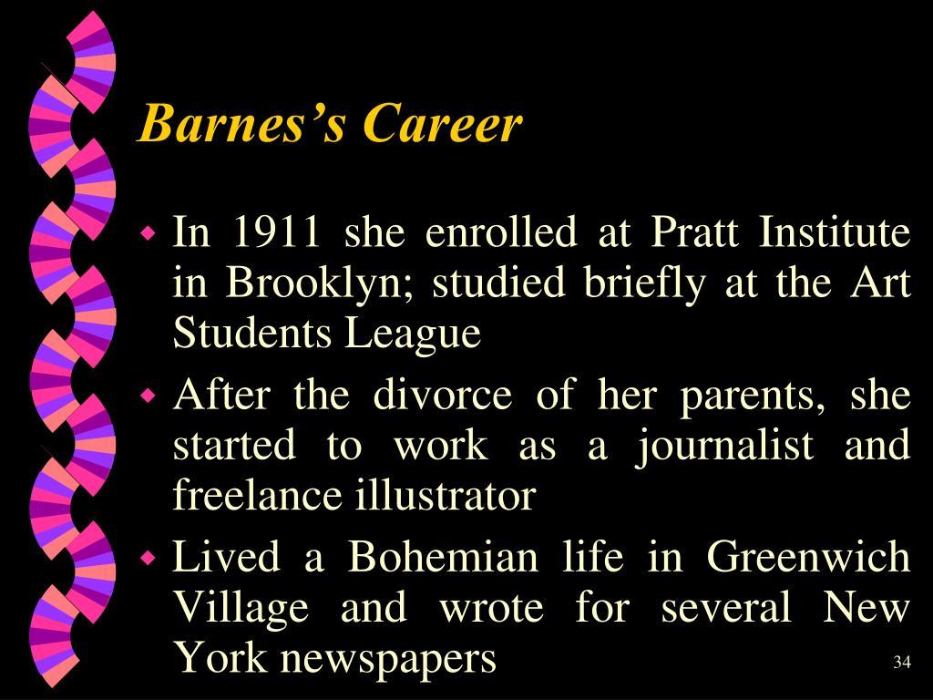 Barnes's Career
