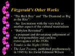fitzgerald s other works