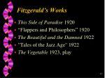 fitzgerald s works