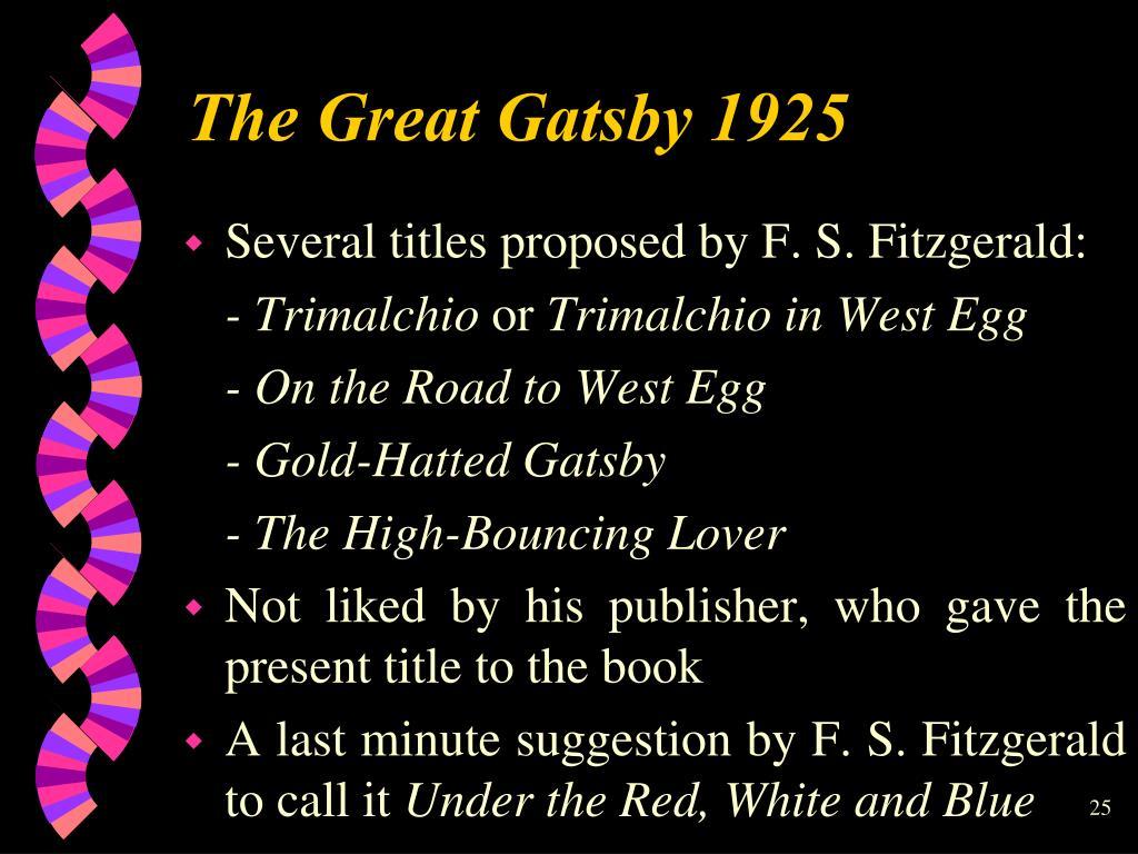 Тhe Great Gatsby 1925