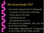 he great gatsby 1925