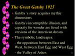he great gatsby 192528