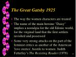he great gatsby 192529