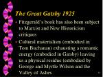 he great gatsby 192530
