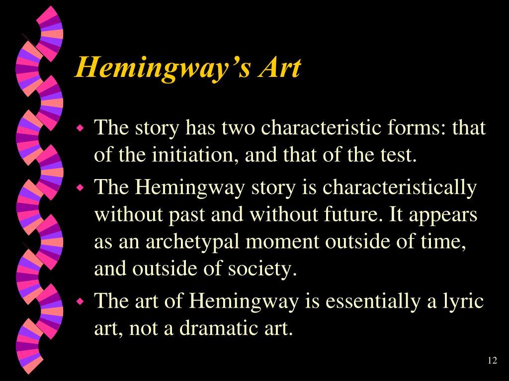 Hemingway's Art