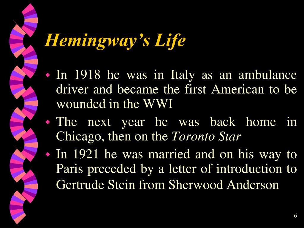 Hemingway's Life