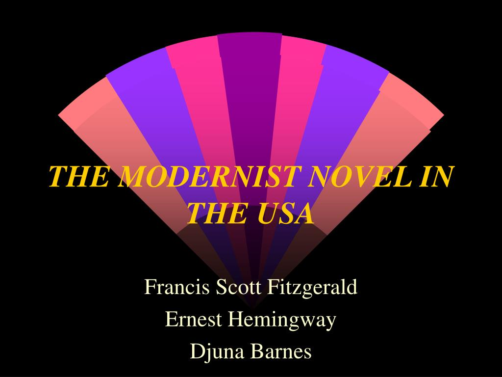 the modernist novel in the usa l.
