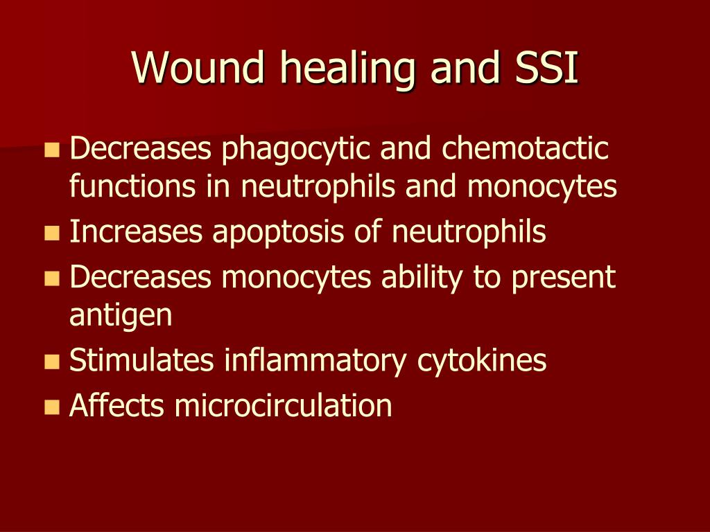 Wound healing and SSI