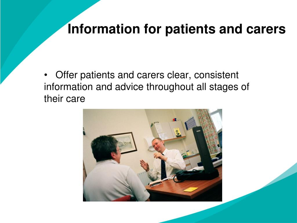 Information for patients and carers