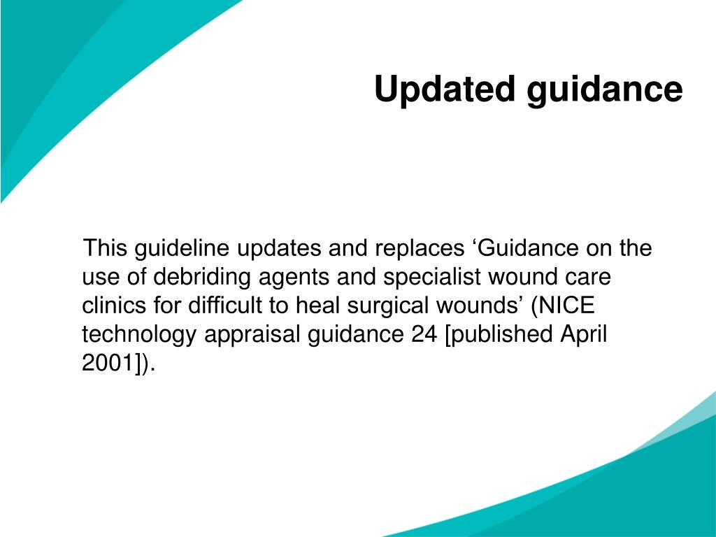Updated guidance