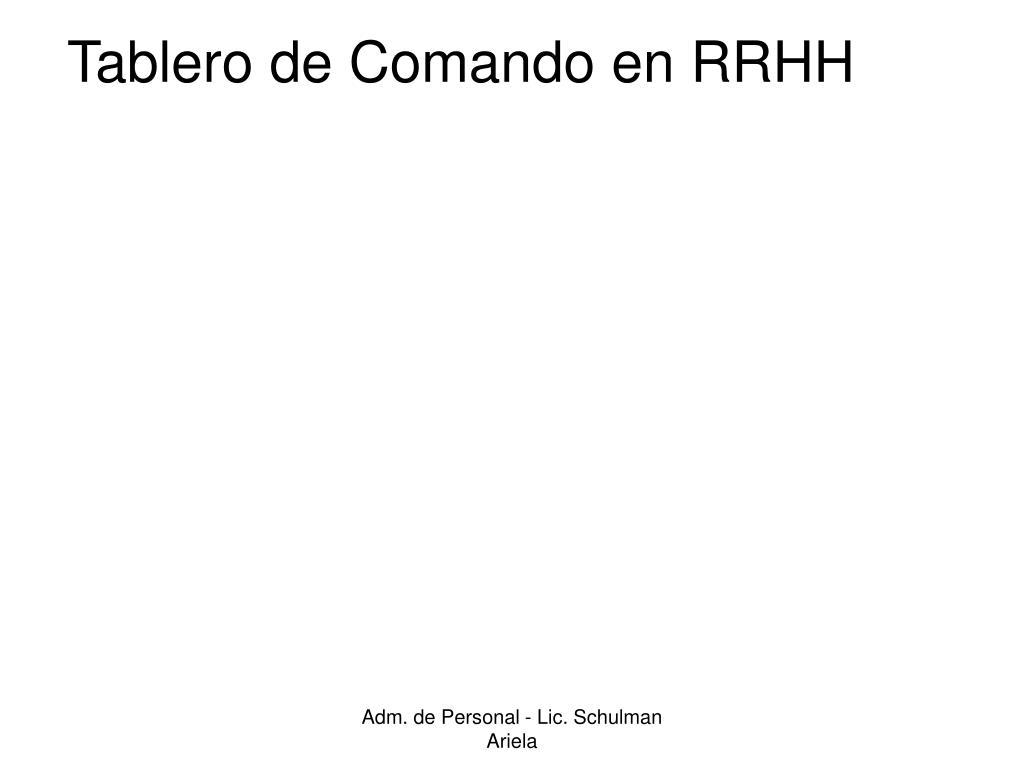 tablero de comando en rrhh l.