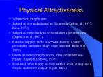 physical attractiveness31