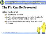 the flu can be prevented