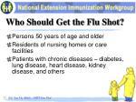 who should get the flu shot