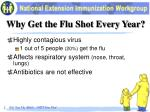 why get the flu shot every year