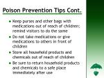 poison prevention tips cont d