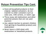 poison prevention tips cont d13