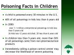 poisoning facts in children