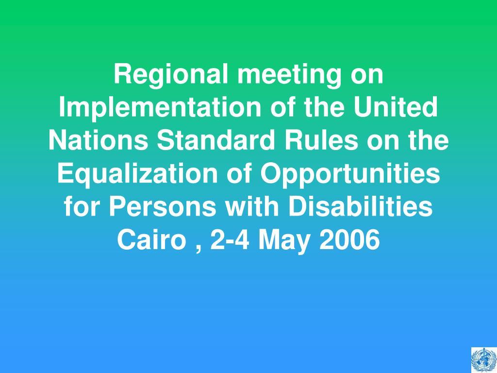 Regional meeting on
