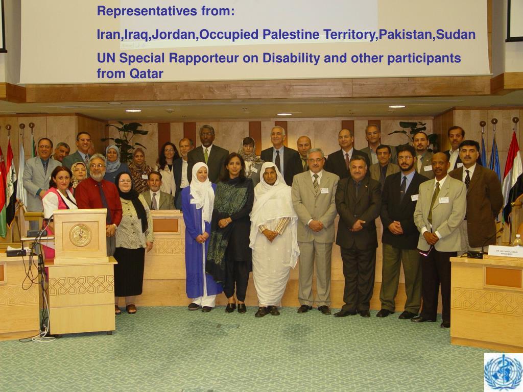 Representatives from: