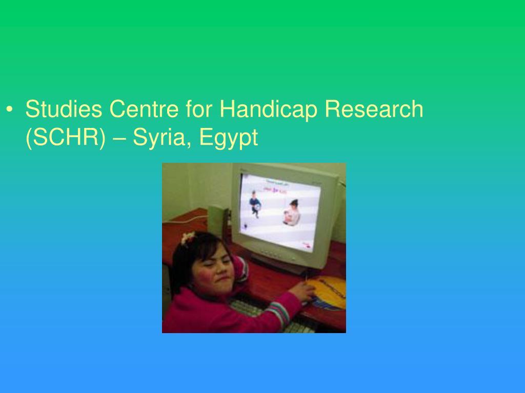 Studies Centre for Handicap Research (SCHR) – Syria, Egypt