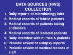 data sources hws collection