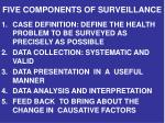 five components of surveillance